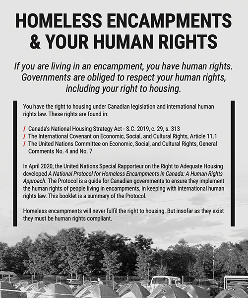 Homeless Encampments & Your Human Rights Handout