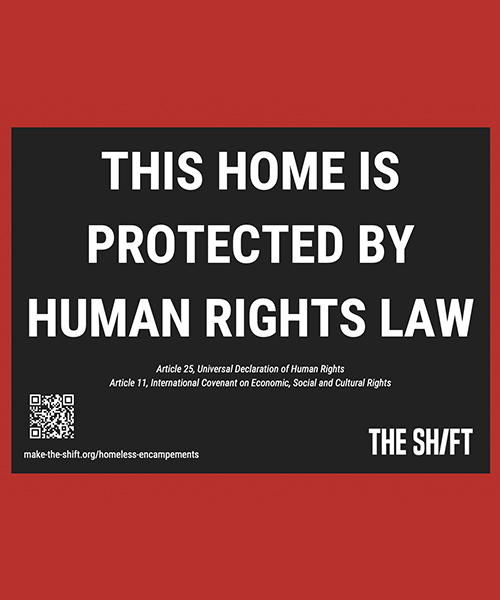 Lawn Sign – This Home is Protected by Human Rights Law