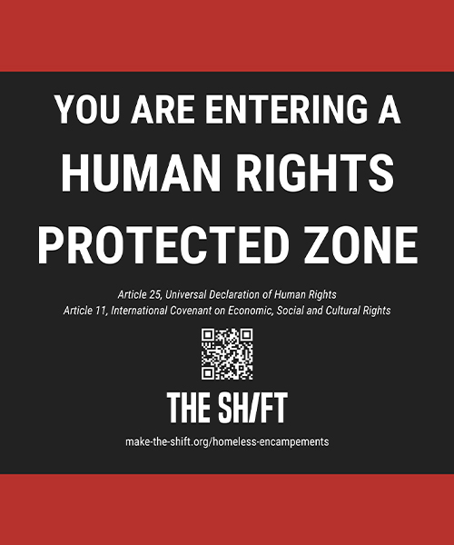 Lawn Sign – You Are Entering a Human Rights Protected Zone