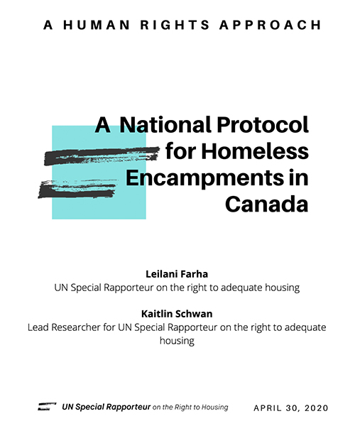 A National Protocol on Homeless Encampments: A Human Rights Approach