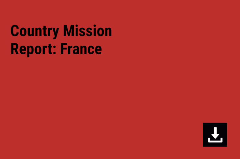 Country Mission Report: France