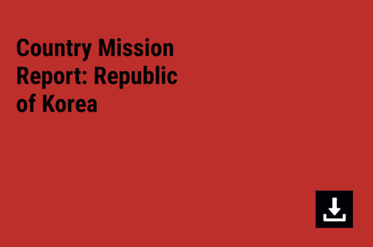 Country Mission Report: Republic of Korea