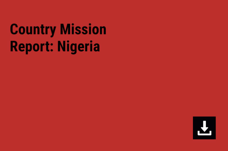 Country Mission Report: Nigeria