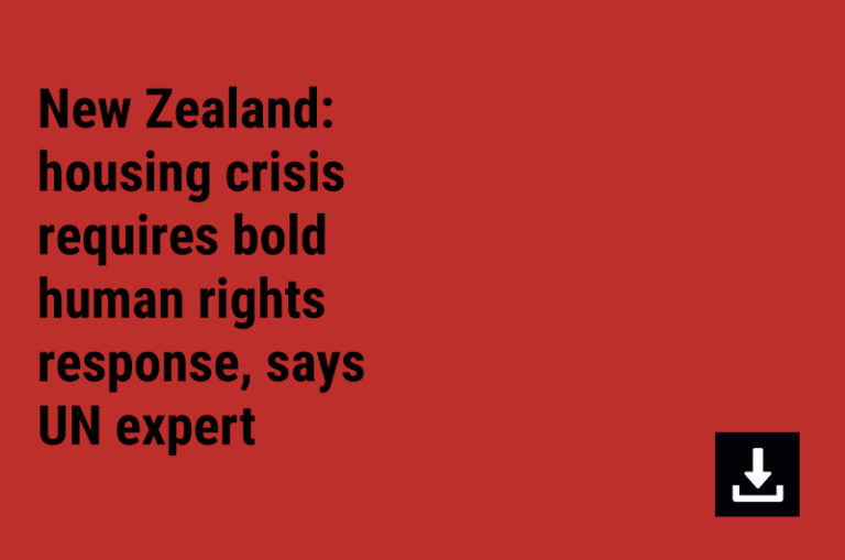 New Zealand: housing crisis requires bold human rights response, says UN expert