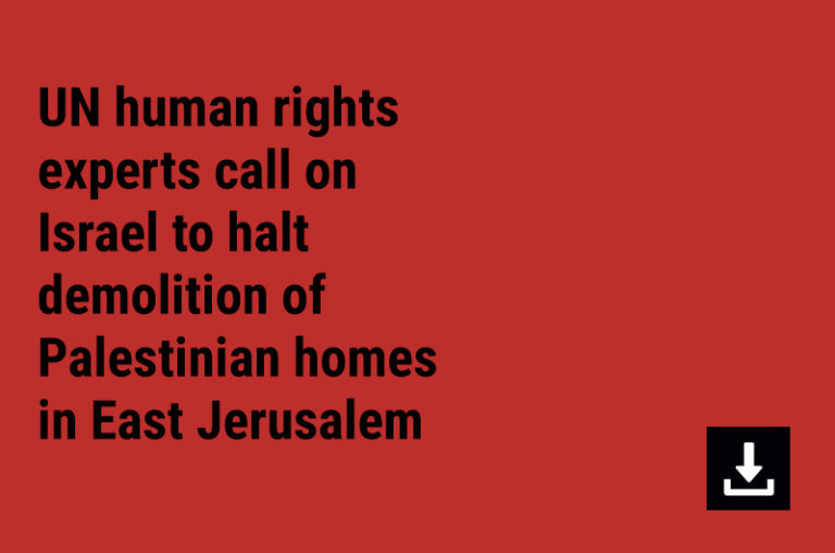 UN human rights experts call on Israel to halt demolition of Palestinian homes in East Jerusalem