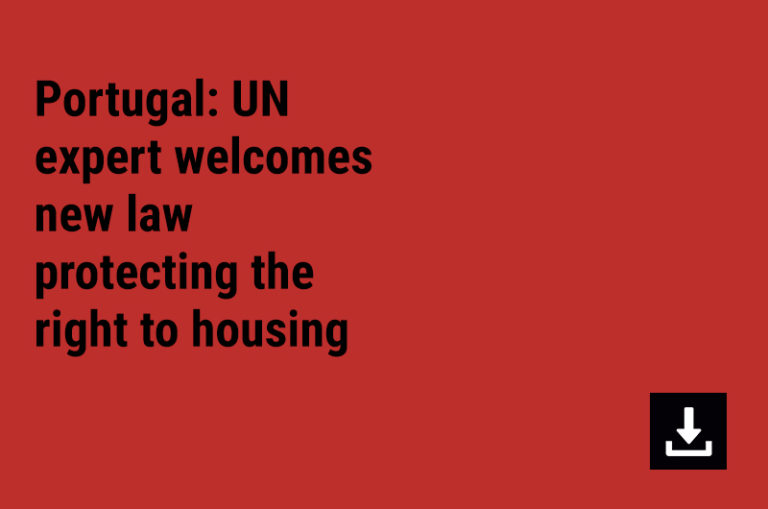 Portugal: UN expert welcomes new law protecting the right to housing